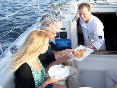Sailing and dining